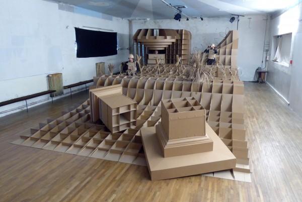 Sentinelle - la Grande Boutique - Langonnet 2016 - Installation et performance