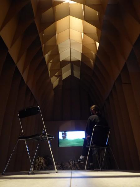 Sans titre, chez monsieur L. , plérin 2017 - Espace de projection vidéo