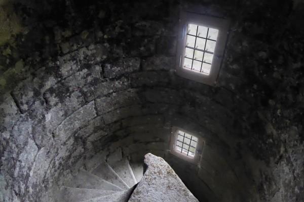 Château de Crenan - le foeil - 2018 - Escalier d'accès à la grande tour